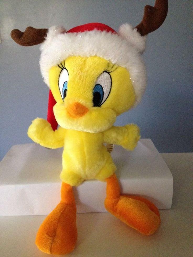 "☀️ TWEETY Santa Hat Plush Bird Hallmark Cards Looney Tunes Stuffed Animal Toy 9"" #WarnerBros"