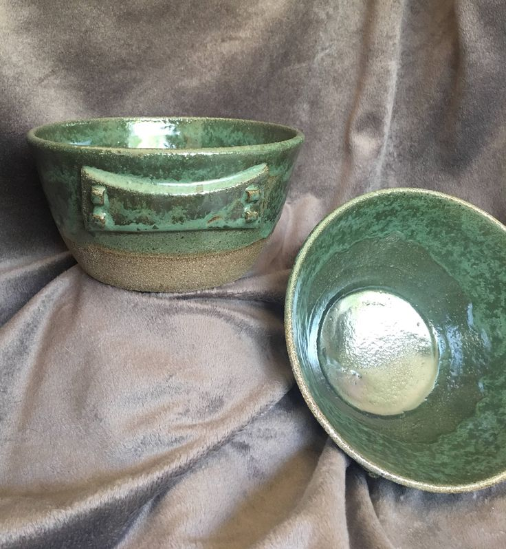 A personal favorite from my Etsy shop https://www.etsy.com/listing/522097004/craftsman-style-bowl-deep-emerald-green
