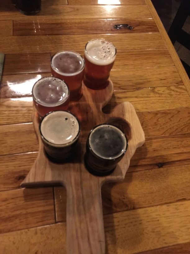The Mitten Brewing Company, Grand Rapids, Michigan — by A Traveling Foodie. Beer Flight