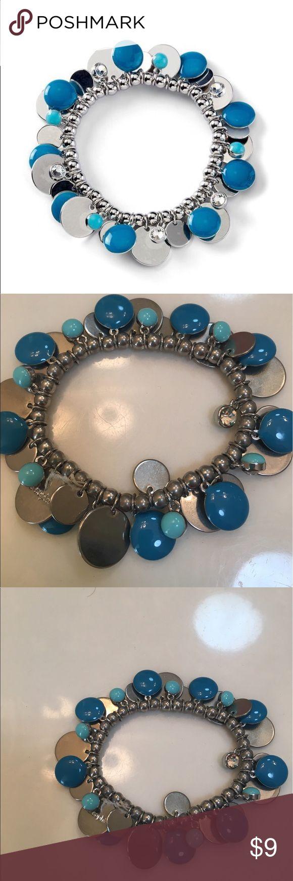 Lia Sophia bracelet Very pretty Lia Sophia bracelet (costume jewelry) with turquoise and silver. Lia Sophia Jewelry Bracelets