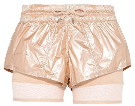 Stella McCartney metallic gold run 2in1 shorts