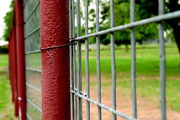 perimeter fences: 4' meets ground, 7' posts w/ plain wire pulled tight between posts at eye- level secures top rung & discourages climbing. To further discourage climbing, stringing electric fencing at top