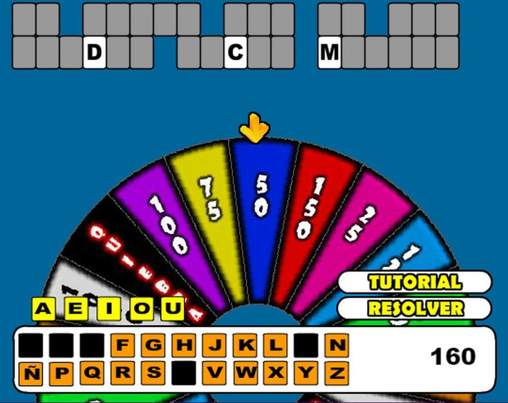 Have You Ever Played  Find the hidden phrase. Wheel of Fortune from Dailygames. You can be a millionaire or finish ruined. Use the mouse to spin the roulette.  game?