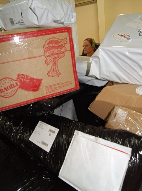Eeek! Our Chief Poobah is getting buried in the mountain of Christmas orders! #Christmas2013