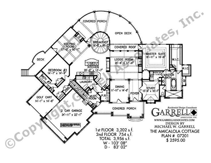 Amicalola Cottage-3956 House Plan | House Plans by Garrell ...