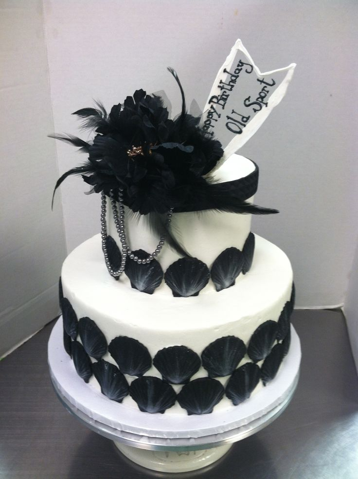 20 S Flappers Theme Cake Luckytreats Feathers Flapper