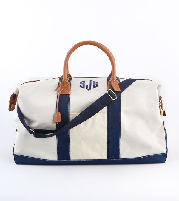J.McLaughlin LARGE SAILCLOTH DUFFLE: Weekend Getaways, Duffel Bags, Weekend Bags, Travel Bags, The Weekend, Sailcloth Duffle, Overnight Bags, Monograms Duffle, Duffle Bags