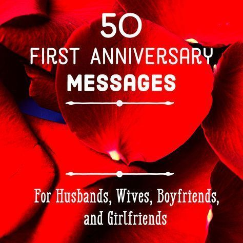 First Anniversary Quotes and Messages for Him and Her #weddinganniversarygifts