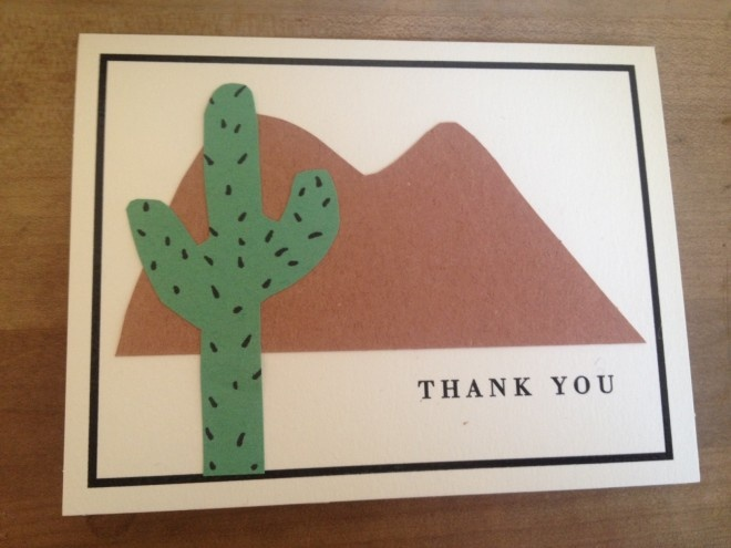 Jewelry Designer Christine Guibara made this Desert Days Thank You Card using Zip Dry! Cute!