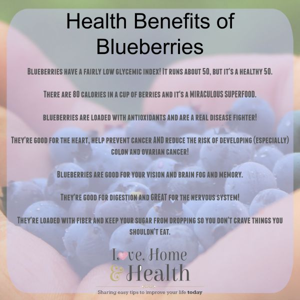 #Blueberries - benefits - www.LoveHomeandHealth.com