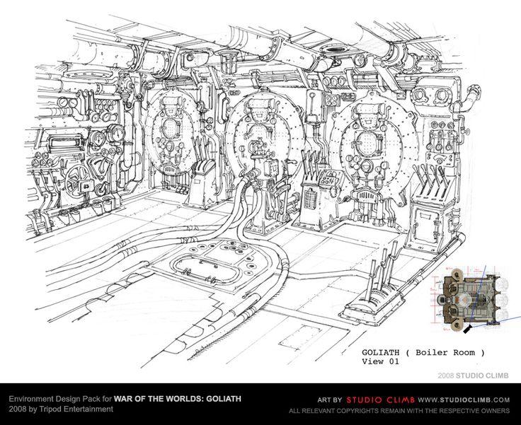 Environment Design Pack for War Of The Worlds: Goliath --- Boiler room