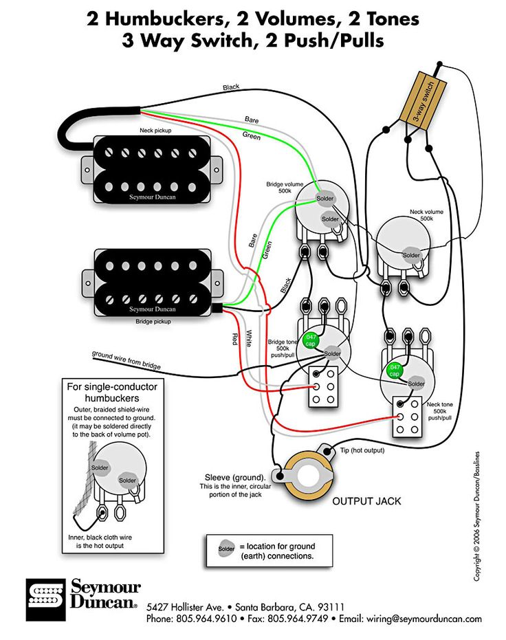 Les Paul Wiring Diagram Duncan Pearly gates humbucker wiring