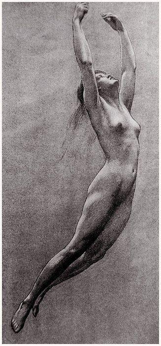 Herbert James Walker  Study for Iris from Prospero: Figure Drawing, Herbert James Draper, Life Drawing, Art, James D'Arcy, Herbert Draper, Study, Drawing