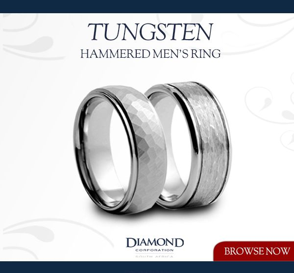Tungsten Hammered & Brushed Men's Rings | Diamond Corporation South Africa