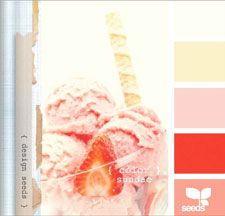 colour scheme pink: Strawberries Ice Cream, Design Seeds, Colors Sundaes, Colors Palettes, Colors Schemes, Designseeds, Icecream, Girls Rooms, Colors Inspiration