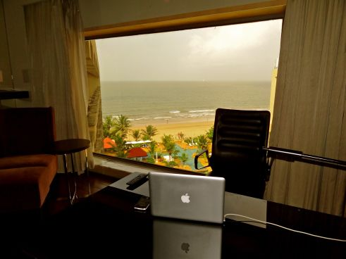 My office for a day, at JW Marriott Hotel, Mumbai.