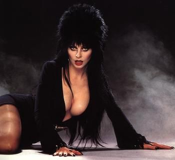 Elvira! Man I miss her.  My sis and I used to sit up late and watch crappy old B movies with her.