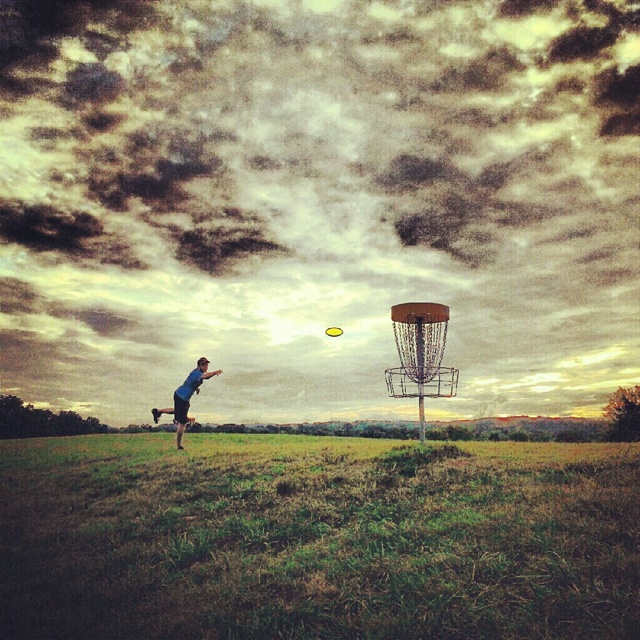 Disc golf. My favorite and only sport i play. Best relaxing nature sport ever.