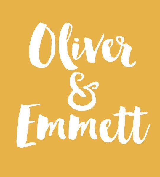 Oliver & Emett - Baby Names That Are Perfect for Twins - Photos