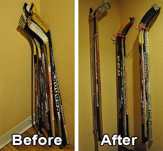 acde892e5adb83c9bc151a835c2705b6 Hockey sticks are a pain to store. I guess I could put mine in a closet, but I h...