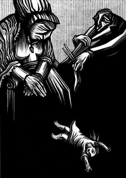 Walpurgisnacht Novel by Gustav Meyrink, linocut illustrations by Vladimir Zimakov