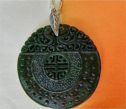 42 best mens necklaces images on pinterest carving egyptian men jewelry chinese dark green jade pendant on chain necklace aloadofball Choice Image