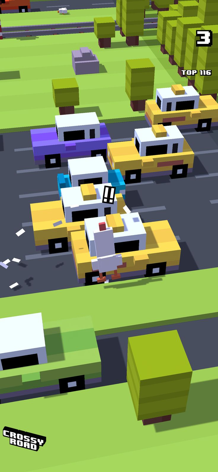 3 on crossyroad. My top is 116. in