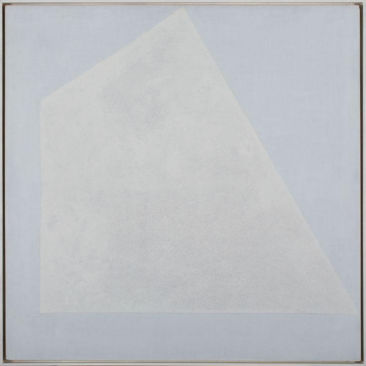 HENRYK STAŻEWSKI (1894 - 1988)  NR 49 (HOMAGE A MALEWICZ NR II), 1978   tech, mieszana, płyta / 100 x 100 cm  opisany na odwrocie: nr 49/ 1978/ H. Stażewski/ Homage a Malewicz nr II
