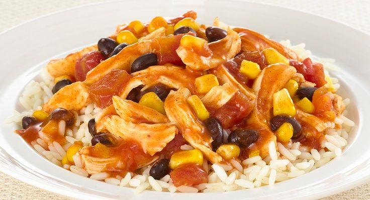 Slow Cookers Fiesta Chicken | Crock Pot/Slow Cooker Meals | Pinterest