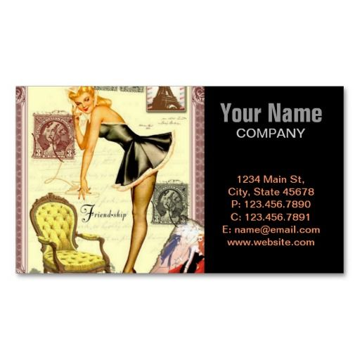 17 best images about pin up girl business cards on