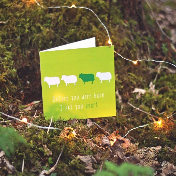 YOU ARE SET APART  Inspired by: Jeremiah 1:4   Designed to encourage someone who is struggling with… - Self esteem - Identity in Christ - Seeing their value & worth.  Available to buy at: www.mannacards.co.uk Manna Cards: Christian Cards of Encouragement for Periods of Wilderness