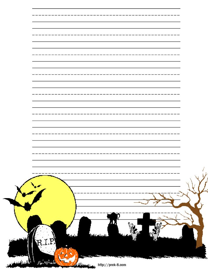 103 best Halloween Stationery images on Pinterest Halloween - free handwriting paper template