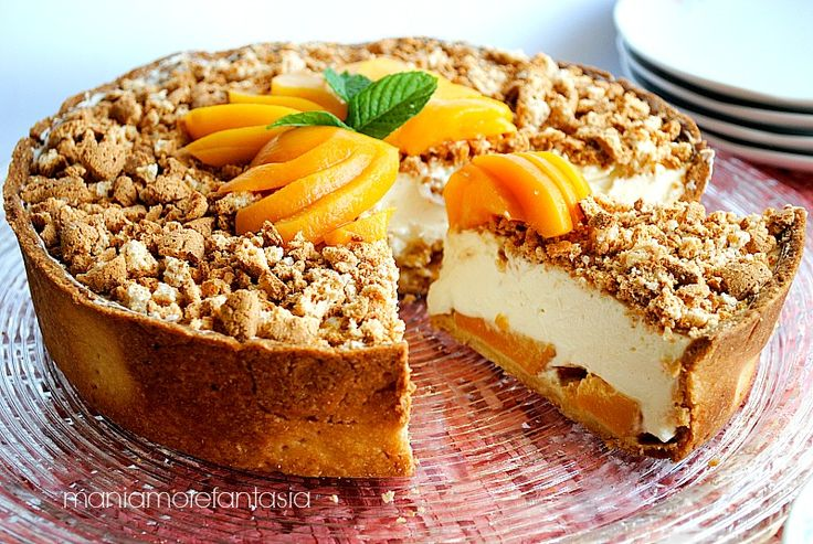Crostata cheesecake alle pesche
