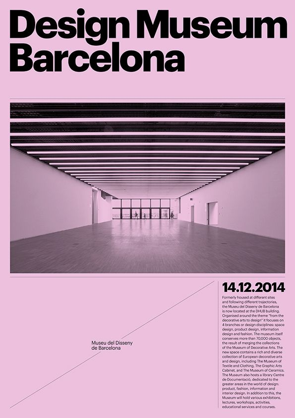 Visual identity for new Barcelona Design Museum by Atlas.