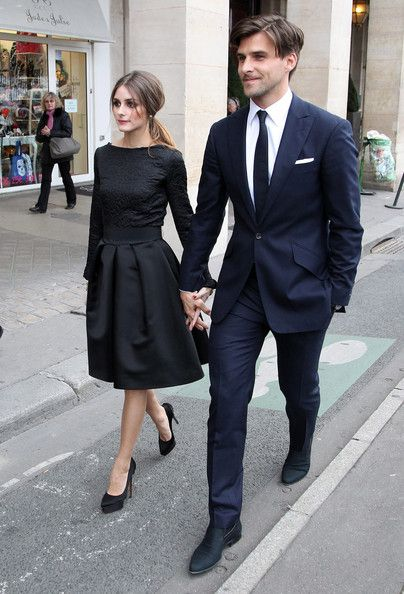 Navy Suit Black TieParisians Chic Power Couples Audrey Hepburn