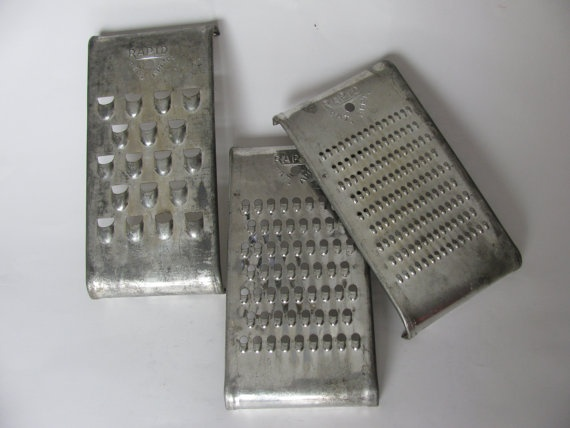 Farmhouse Chic Vintage Rapid Graters Shredders by KitchieKu, $18.00