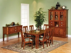 33% OFF Amish Furniture - Hand Crafted Shaker and Mission Furniture Online Outlet Store: Craftsman Mission #1 Dining Set: Oak