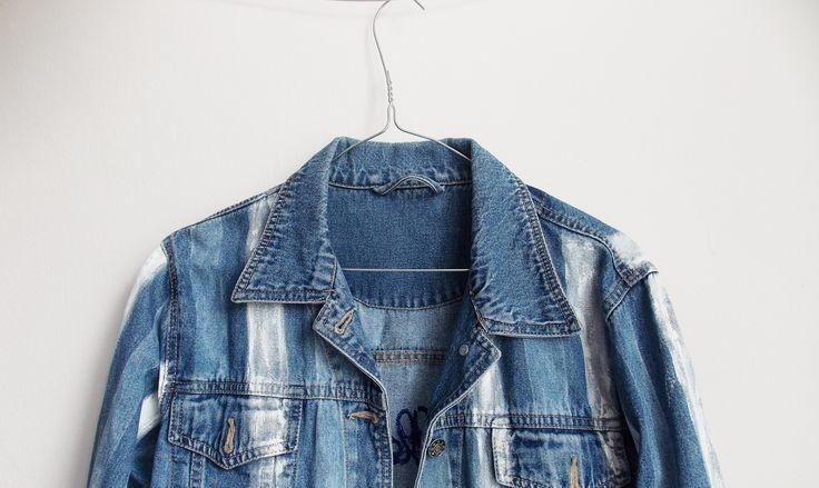 """Collect moments"" Jacket #denim # jacket #handmade #intishopromania"