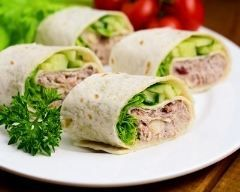 Wraps au thon et mayonnaise faciles