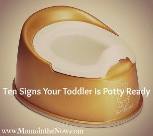 Ten Signs Your Toddler is Potty Ready.  Is your toddler showing any of the signs that he is ready to drop the diapers for big boy underwear.  This list covers so many things - potty training from a mom of four boys!