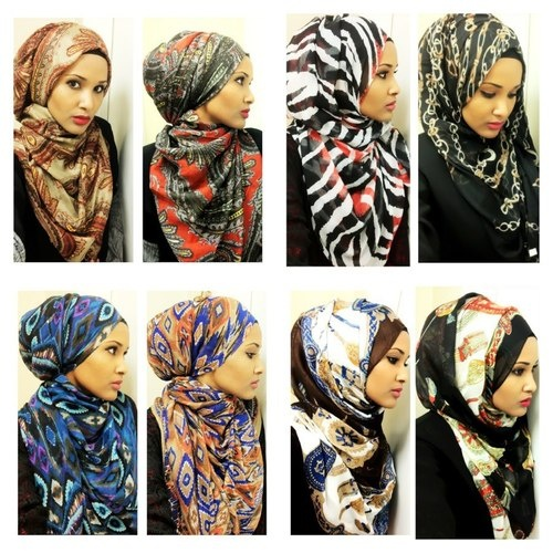 different hijab styles