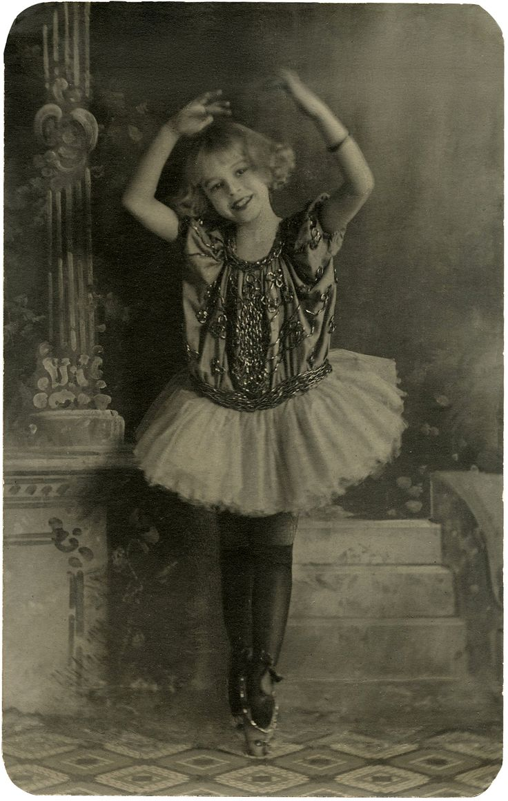Vintage Ballerina Girl Photo Download! - The Graphics Fairy