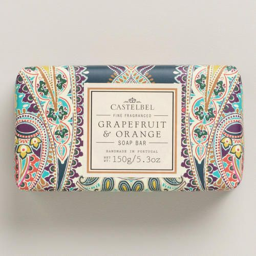 Handcrafted by artisans in Portugal, our Castelbel Grapefruit & Orange Bar Soap was produced using a traditional triple-milled technique. This luxurious soap combines exquisite fragrances with high quality olive, palm and coconut oils. Beautiful hand-finished packaging makes it a perfect gift.