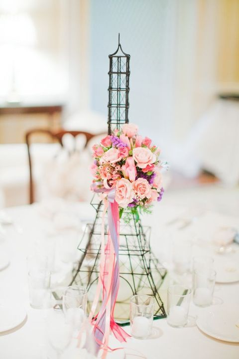 Paris Wedding Theme Ideas DIY Decorations