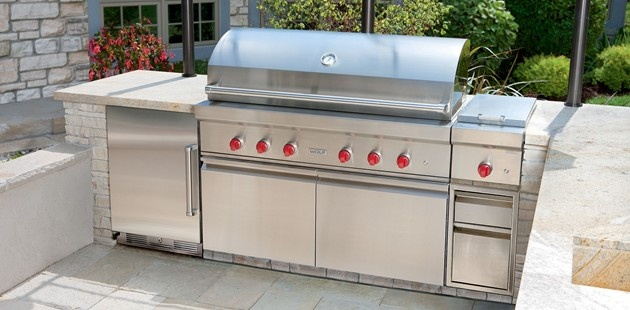 Outdoor grill outdoor grills sub zero wolf for Viking outdoor kitchen designs