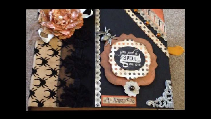 Part 1-MME, My Minds Eye Hsunted Paper Collection Halloween Mini Album Inspired by Clare-Charlie Jones/My Creative Spirit on Youtube.