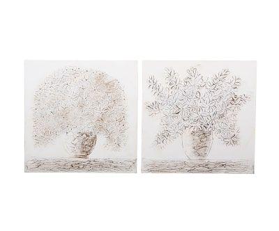Набор из 2-х картин - холст, 80х3х80 см