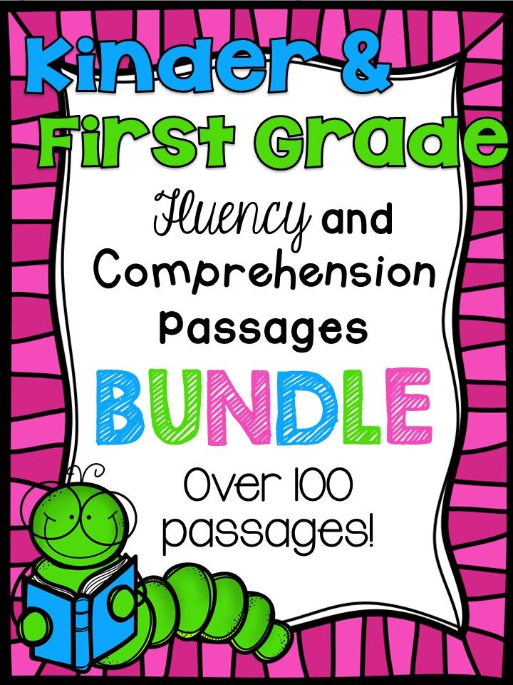 Huge bundle of fun kinder and first grade level reading passages!! I NEED THIS.