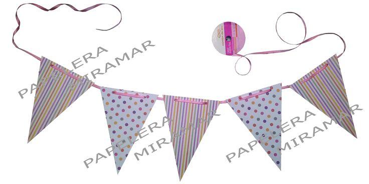 Banderines de cartulina, doble faz PapeleraMiramar.com.ar (Buenos Aires)