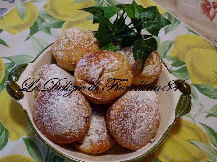 Muffin al limone con cuore di lampone
